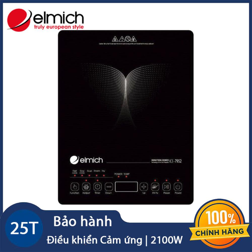 Bếp điện từ cao cấp Elmich ICE-7952 công suất 2100W - Hàng chính hãng, bảo hành 25 tháng