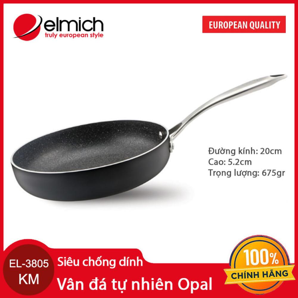 Chảo vân đá tự nhiên chống dính Elmich Opal 20cm EL-3805 KM xuất xứ CH Séc