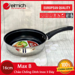 Chảo inox 3 đáy chống dính Elmich MaxB 16cm EL-3765 hàng chính hãng, bảo hành 5 năm