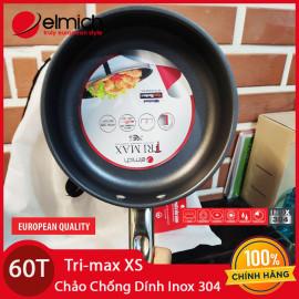 Chảo chống dính cao cấp Inox 304 liền khối Elmich Tri-Max XS EL-3751 20cm chính hãng, bảo hành 5 năm