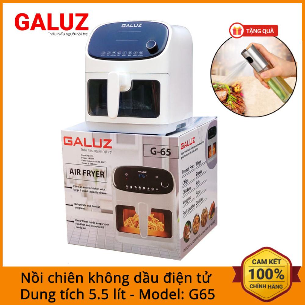 Nồi chiên không dầu điện tử Galuz G65 dung tích 5.5 lít công suất 1800W bảo hành 18 tháng