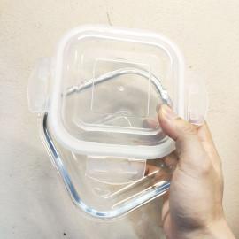 Bộ 3 hộp thủy tinh chịu nhiệt vuông Ferroli dung tích 500ml