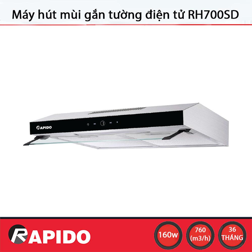Máy hút mùi Rapido RH700SD điều khiển điện tử - Chính hãng bảo hành 36 tháng
