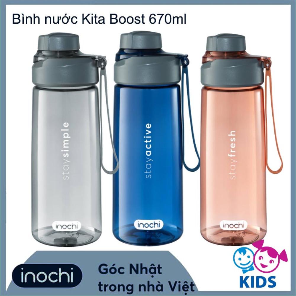 Bình nước trẻ em Inochi Kita Boost 670ml - Hàng xuất Nhật