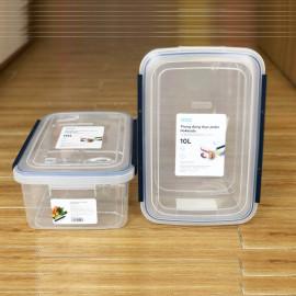 Thùng Đựng Thực Phẩm, Thức Ăn Bằng Nhựa Cao Cấp Hokkaido Inochi 10 Lít - Đạt Tiêu Chuẩn Khắt Khe Y Tế Nhật Bản