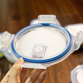 Hộp thủy tinh tròn kháng khuẩn Inochi Nikko 950ml nắp hít chân không - Hàng xuất Nhật