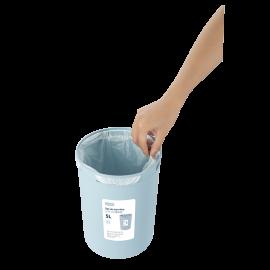 Sọt rác tròn Inochi Hiro 5L xuất Nhật - Công nghệ Ag+ (ion bạc) kháng khuẩn khử mùi