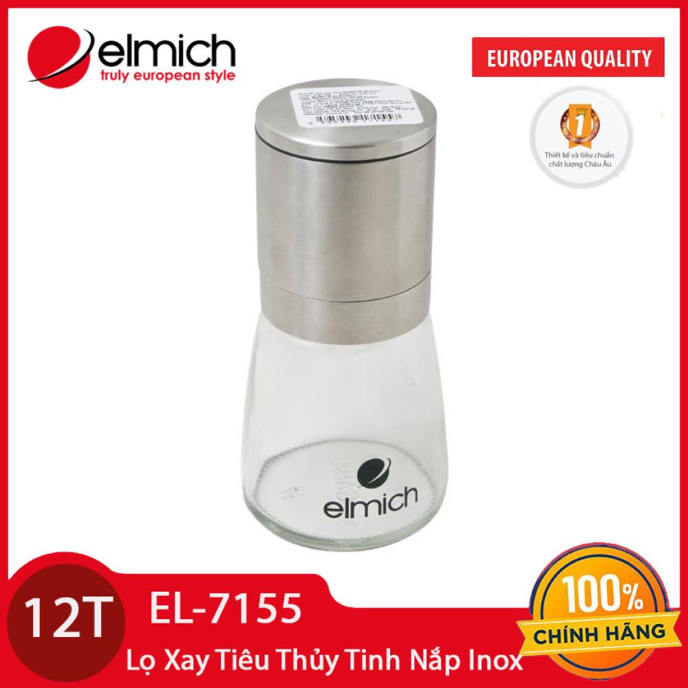 Lọ xay tiêu thủy tinh lưỡi thép không gỉ Elmich EL7155 - Hàng chính hãng