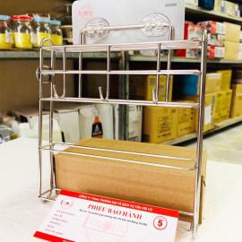 Giá treo dính tường nhà bếp Inox 304 Lyncen LC-DT hàng xuất Nhật