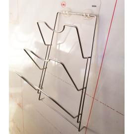 Kệ treo nắp vung nồi Inox 304 dính tường Lyncen hàng xuất Nhật