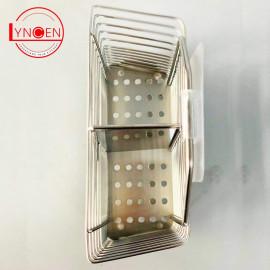Ống đũa 2 ngăn inox 304 Lyncen siêu chịu lực dính tường - Hàng xuất Nhật