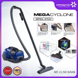 Máy hút bụi không túi Panasonic Megacyclone Malaysia 1600W MC-CL561AN46 hàng chính hãng bảo hành 12 tháng