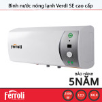 Bình nước nóng lạnh Ferroli VERDI SE dung tích 30L công suất 2500W - Hàng chính hãng, bảo hành 5 năm