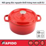 Nồi gang đúc tráng men chống dính Rapido 20cm dùng bếp từ - Bảo hành chính hãng 12 tháng