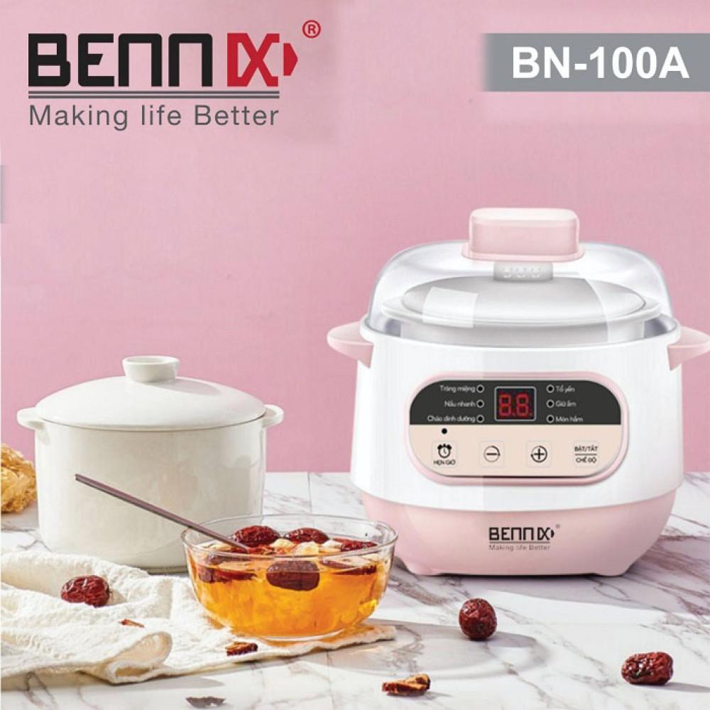 Nồi nấu chậm, nồi chưng yến Bennix BN-100A dung tích 1 lít hàng chính hãng, bảo hành 12 tháng