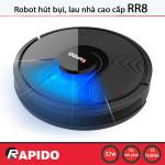 Robot hút bụi, lau nhà Rapido RR8 - kết nối điện thoại, cảm biến thông minh, diệt khuẩn UV - Hàng chính hãng