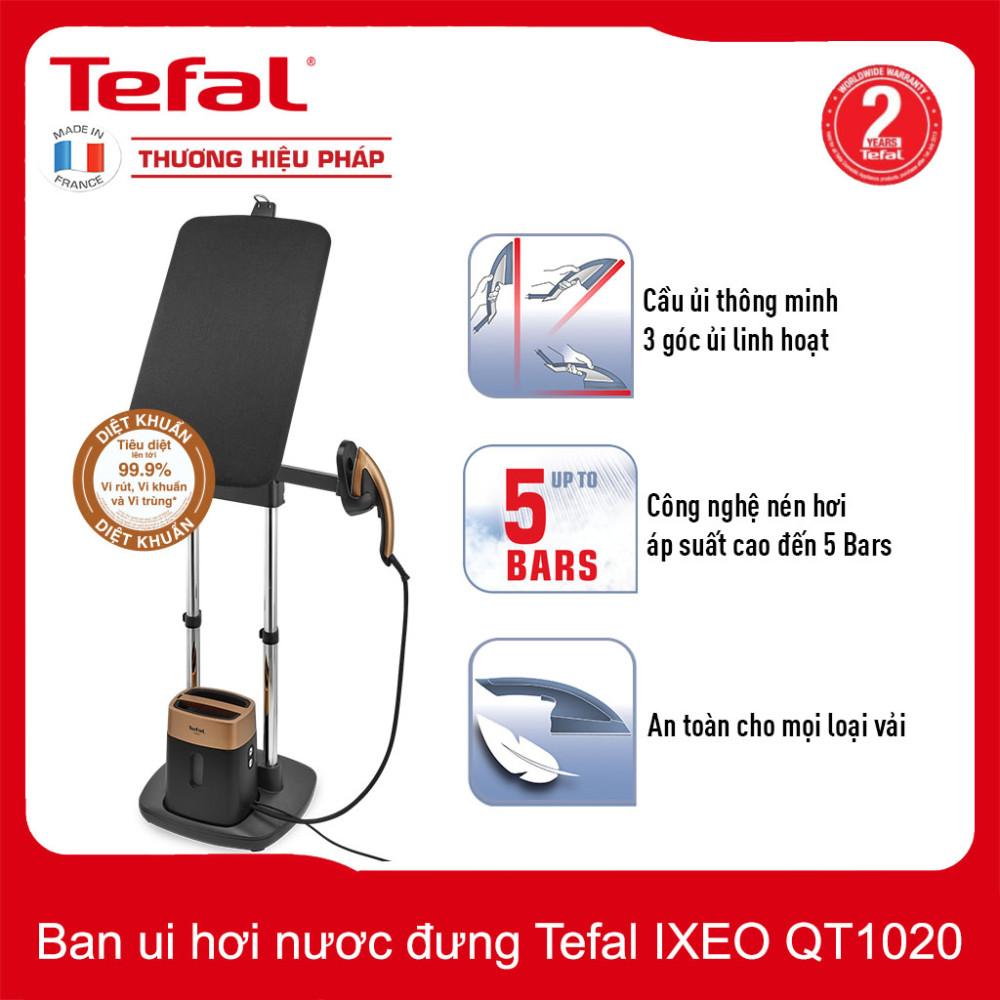 Bàn ủi hơi nước đứng Tefal IXEO QT1020EO công suất 1600W - Hàng chính hãng, bảo hành 24 tháng