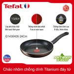 Chảo nhôm chống dính Titanium 24cm Tefal Day By Day G1436405 thương hiệu Pháp - Bảo hành 2 năm