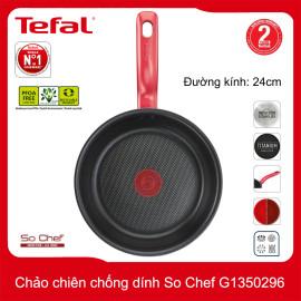 Chảo chiên chống dính đáy từ Tefal So Chef G1350296 đường kính 24cm