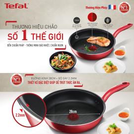Chảo chiên chống dính đáy từ Tefal So Chef G1350695 đường kính 28cm - Chính hãng, bảo hành 24 tháng