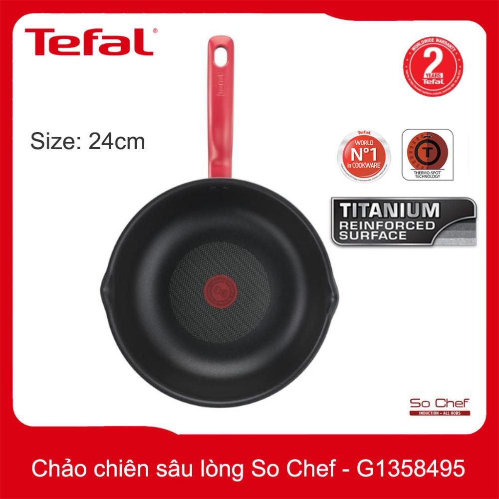 Chảo chiên chống dính sâu lòng Tefal So Chef đường kinh 24cm - G1358495