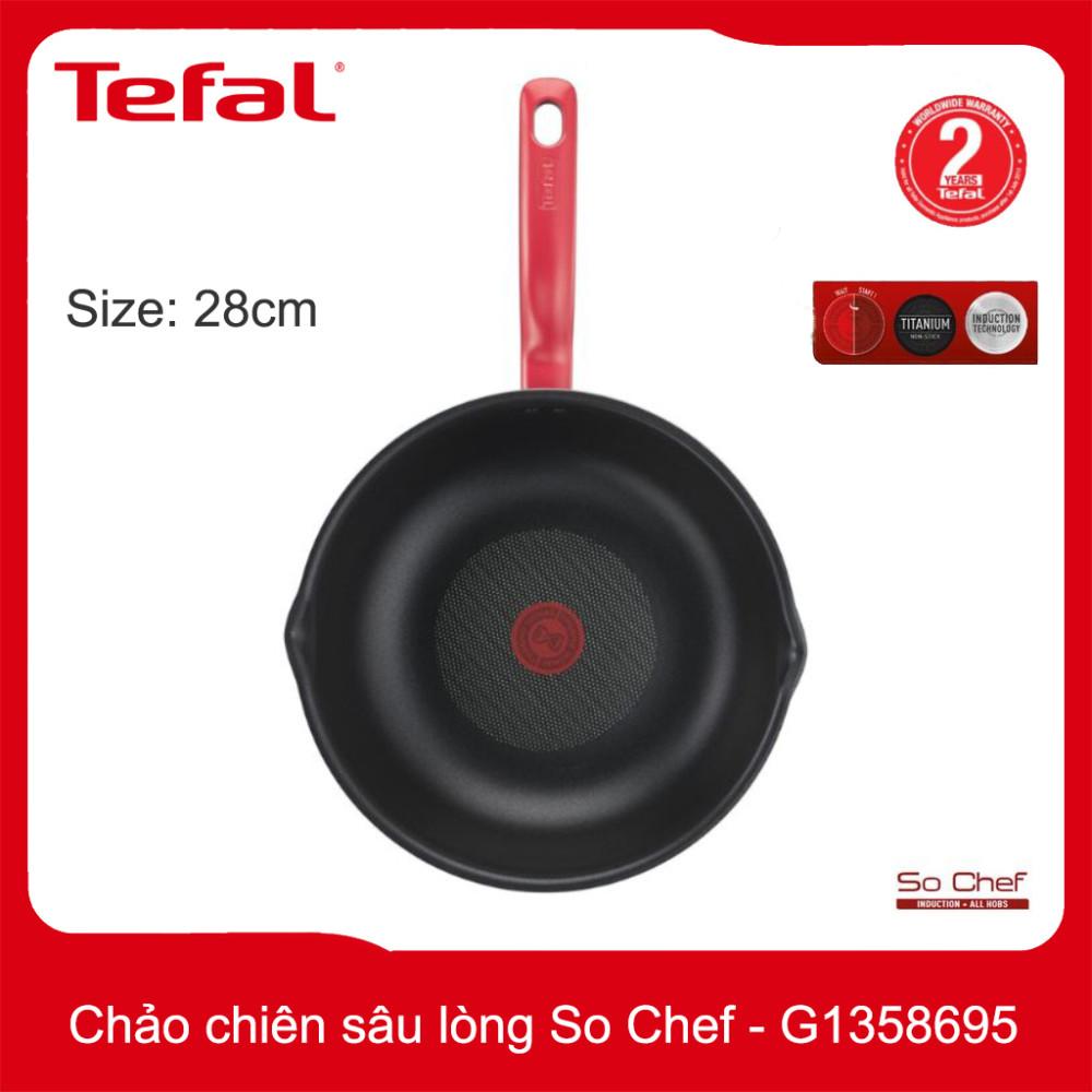 Chảo chiên chống dính sâu lòng Tefal So Chef đường kính 28cm - G1358695