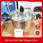 Nồi Inox 304 đường kính 20cm Tefal Simpleo B9054495 bảo hành chính hãng 5 năm, hàng xuất Pháp