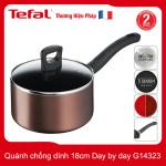 Quánh nhôm chống dính 18cm Tefal Day by day G14323 thương hiệu Pháp bảo hành 2 năm