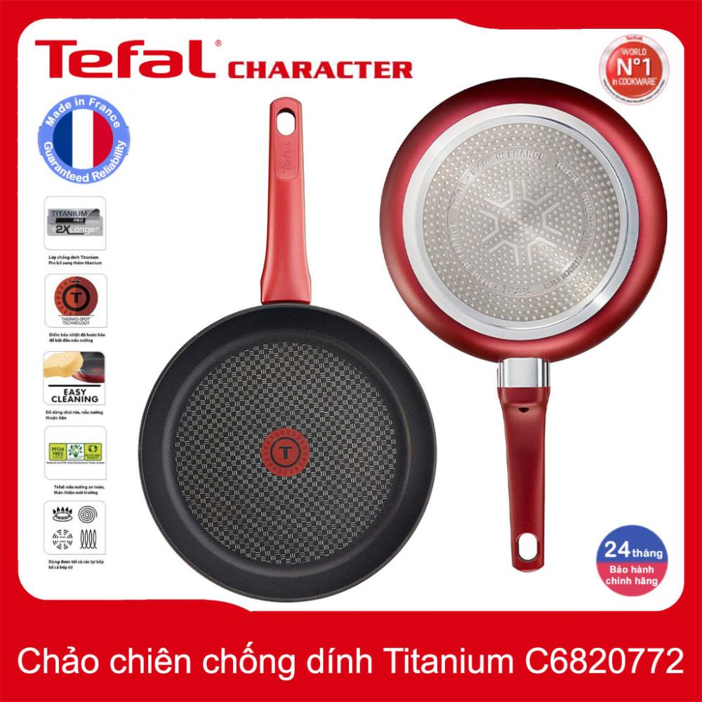 Chảo chống dính đáy từ nhập khẩu Pháp Tefal Character 30cm C6820772 - Hàng chính hãng, bảo hành 2 năm