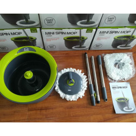 Bộ cây lau nhà Inox xoay tay mini Ettom Lock&Lock ETM498 kèm 2 bông Lau