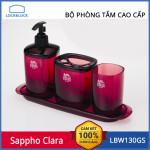 Bộ Phòng Tắm Cao Cấp Lock&Lock Sappho Clara LBW130GSRW (Đỏ Đô)