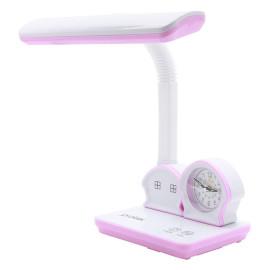 Đèn bàn LED học sinh chống cận thị PROTEX PR-015L kèm đồng hồ ngôi nhà ngộ nghĩnh