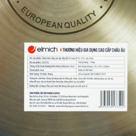 Chảo Inox 2 lớp cao cấp đáy liền Elmich Tri-max XS EL-3752 size 24cm - Hàng chính hãng, bảo hành 5 năm