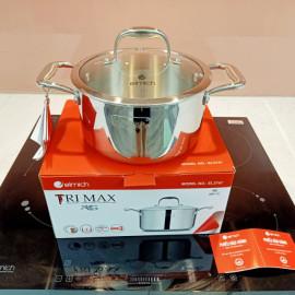 Nồi Inox 3 Lớp Cao Cấp Đáy Liền Emich Tri-max XS EL-3747 Size 20cm - Hàng chính hãng, bảo hành 36 tháng