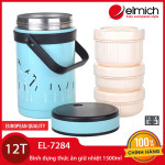 Bình đựng thức ăn giữ nhiệt Inox 304 Elmich 1500ml EL-7284 xuất xứ CH Séc bảo hành 12 tháng
