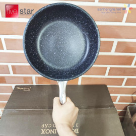Bộ nồi xửng và chảo chống dính Inox 304 Fivestar Plus FPB5006 thân đúc đáy liền 5 món