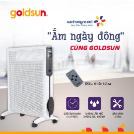 Máy sưởi Mica Goldsun Premium GPMH04E 2200W điện tử màn hình LED điều khiển từ xa - Chính hãng, bảo hành 24 tháng