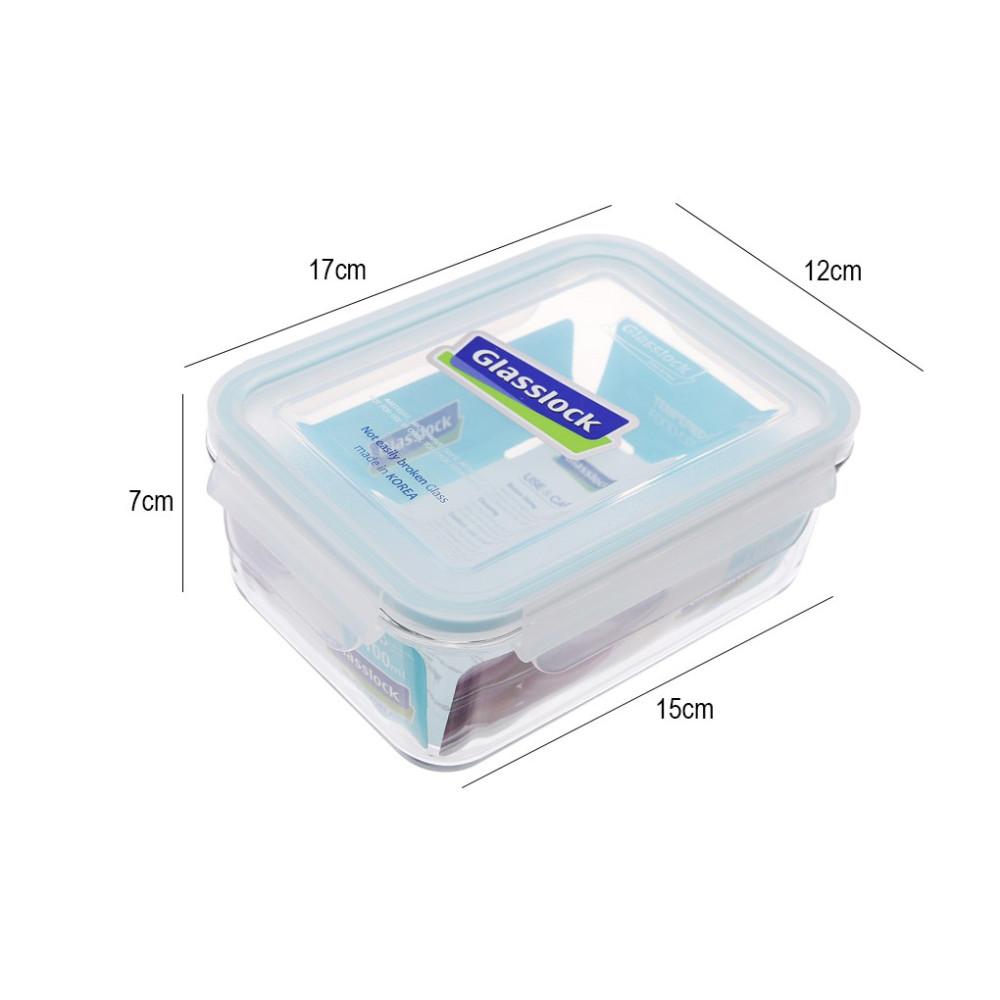 Hộp thủy tinh hình chữ nhật Glasslock 695ml MCRB071 - Hàng nhập khẩu, xuất xứ Hàn Quốc