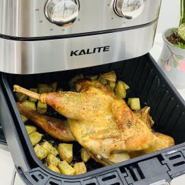 Nồi chiên không dầu Kalite Q5 dung tích 5.5 lít 1700W hàng chính hãng, bảo hành 12 tháng - Tặng Chổi phết dầu