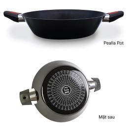 Chảo hợp kim nhôm chống dính 2 quai Kims Cook Paella 28cm đáy từ
