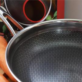 Chảo chống dính Inox 304 đường kính 24cm Kimscook Hàn Quốc dùng bếp từ - Bảo hành 2 năm