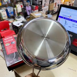 Chảo chống dính Inox 304 đường kính 30cm Kimscook Hàn Quốc công nghệ Blackcube dùng bếp từ, bảo hàng 2 năm