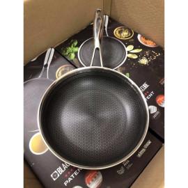 Chảo chống dính Inox 304 đường kính 24cm Kimscook Hàn Quốc dùng bếp từ