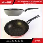 Chảo sâu lòng hợp kim nhôm chống dính vân đá đáy từ Kimscook EASY COOK 24cm EARM224H
