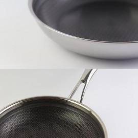 Chảo chống dính sâu lòng 30cm Kimscook Blackcube 3 lớp đúc liền inox 304 đáy từ - Hàng chính hãng