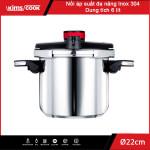 Nồi áp suất đa năng Inox 304 Kimscook dung tích 6 lít đường kính 22cm dùng bếp từ