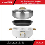 Nồi lẩu, nướng điện đa năng 3 trong 1 Kims cook MC520l LG