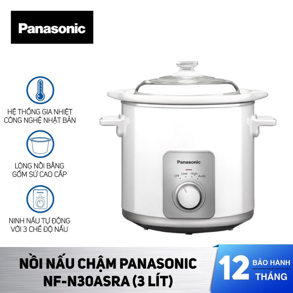 Nồi nấu cháo chậm Panasonic dung tích 3 Lít NF-N30ASRA sản xuất Malaysia - Bảo Hành 12 Tháng