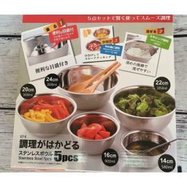 Set 5 tô trộn Inox hàng Nhật DT-5