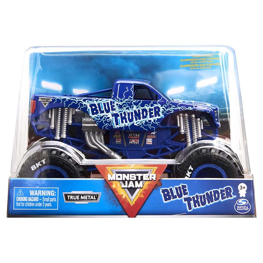 Xe tải mô hỉnh Monster Jam True Metal tỷ lệ 1:24 - Chiến xe Sấm Sét Blue Thunder